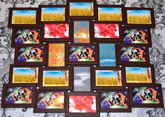 Мультирамка состоит из 25 фото 10х15см.